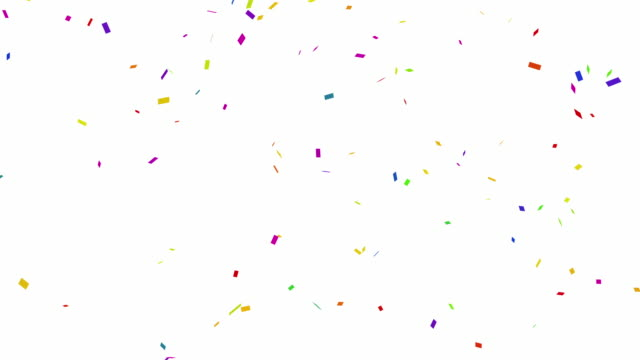 Loopable falling colorful confetti with alpha channel 4K