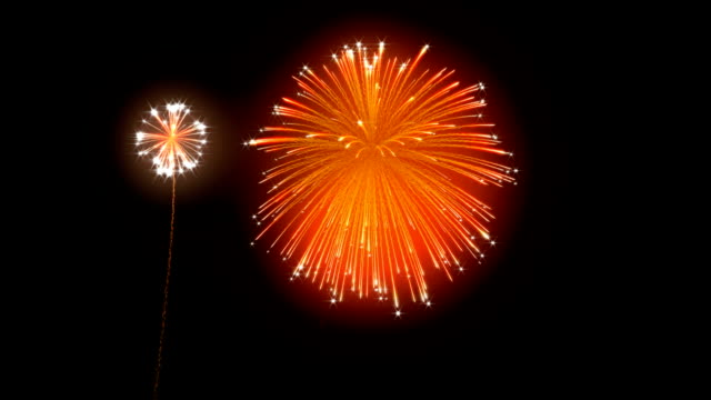 Loopable Fireworks with slow motion Loopable Fireworks with slow motion. happy 4th of july videos stock videos & royalty-free footage