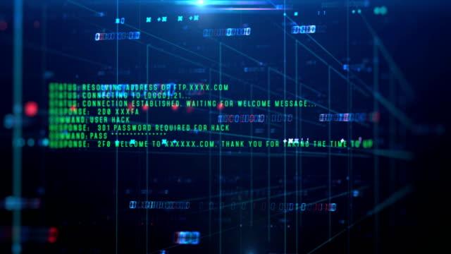 stockvideo's en b-roll-footage met loopbare beeldmateriaal van de programmering code abstracte technische achtergrond - boomstam