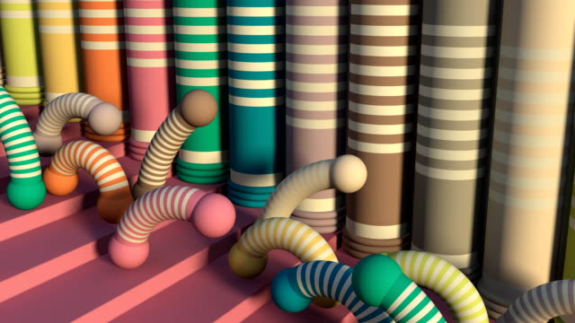 Loopable Fun Allegorical Fashion Scenes (2 camera angles) video