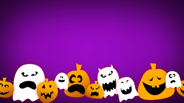 Endlos wiederholbar Halloween-Animation mit Text Platz – Video