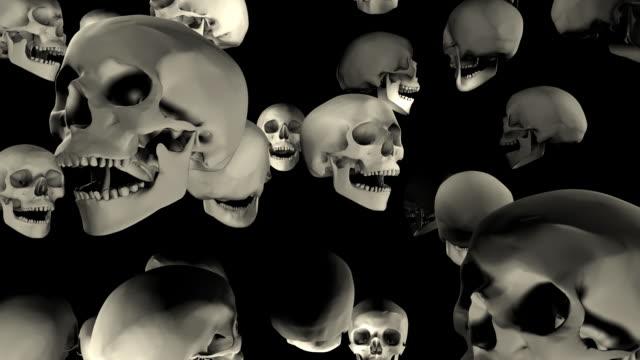 Loopable, Halloween, Falling Skulls video