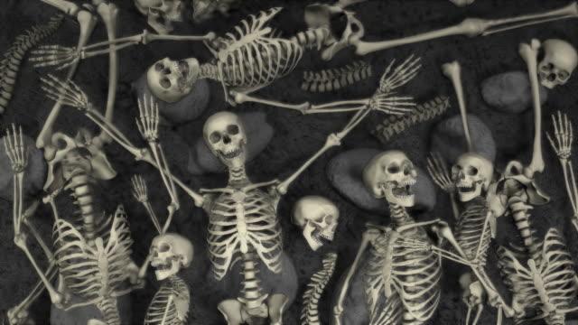 Loopable, Halloween, Field of humans skeletons video