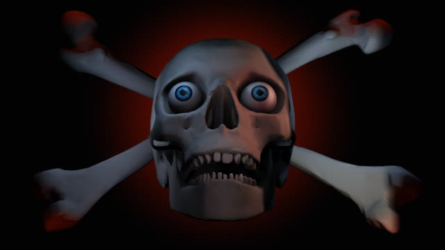 Loopable, Halloween, Skull under moving lights video