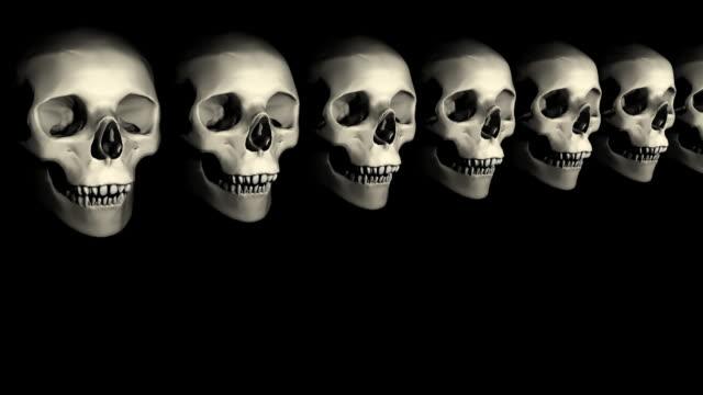 Loopable, Halloween Skulls video