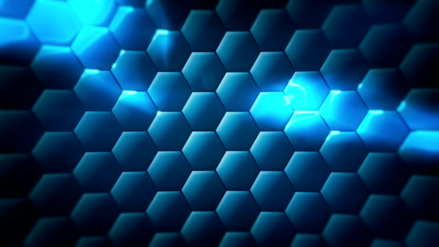 Loopable hex technology background video