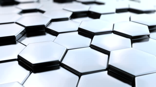 Loopable, Hexagonal silver background. video