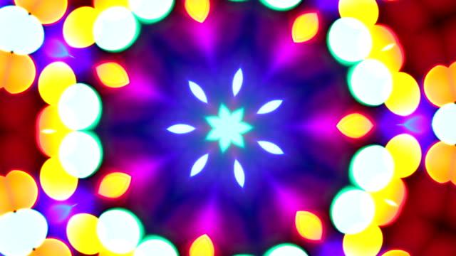 петли калейдоскоп красок. hd ntsc, pal - узор калейдоскоп стоковые видео и кадры b-roll