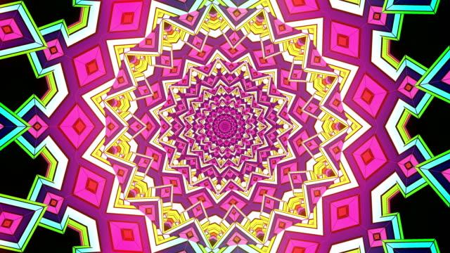 loopable kalejdoskop sekvens mönster. - blommönster bildbanksvideor och videomaterial från bakom kulisserna