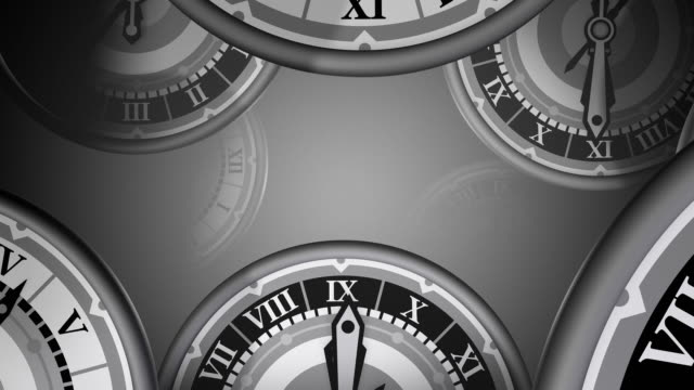 Loopable, Many Clocks Zooming By, Time passing video