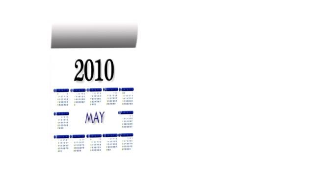 vidéos et rushes de bouclables nouvel an 2010-2011 calendrier sur fond blanc - calendrier de l'avent