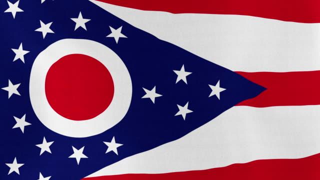 loopable: ohio bayrağı - columbus day stok videoları ve detay görüntü çekimi