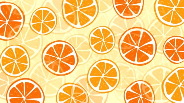 Loopable orange pattern animation
