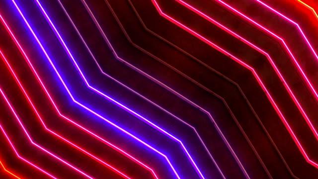 loopable rosso e blu neon sign - nevada video stock e b–roll