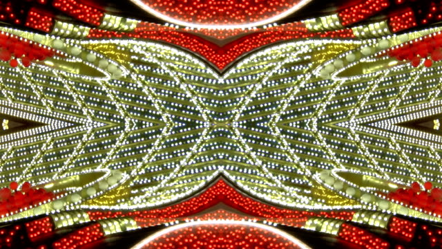 Loopable Red and White Chasing Lights Frame video