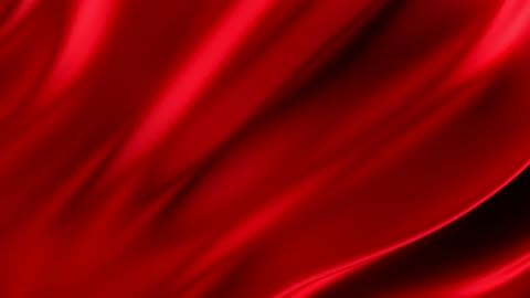 vídeos y material grabado en eventos de stock de tela o paño que fluye rojo loopable - rojo
