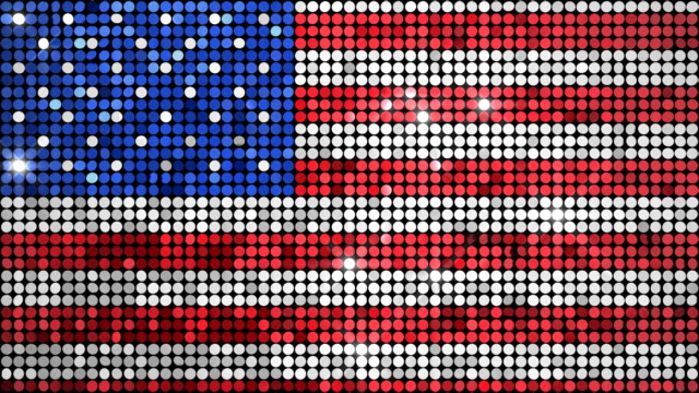 Loopable Reflectors Flag Two Loopable backgrounds of sparkly reflectors in the colors of the US flag. sequin stock videos & royalty-free footage