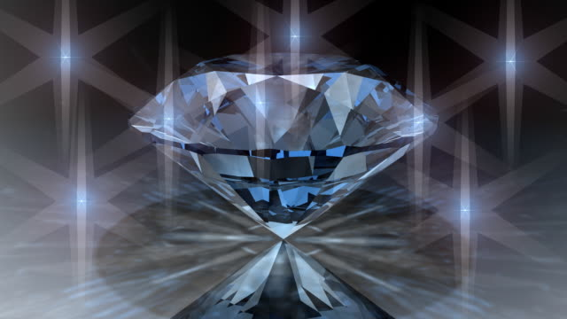 Loopable, Rotating Clear Diamond video