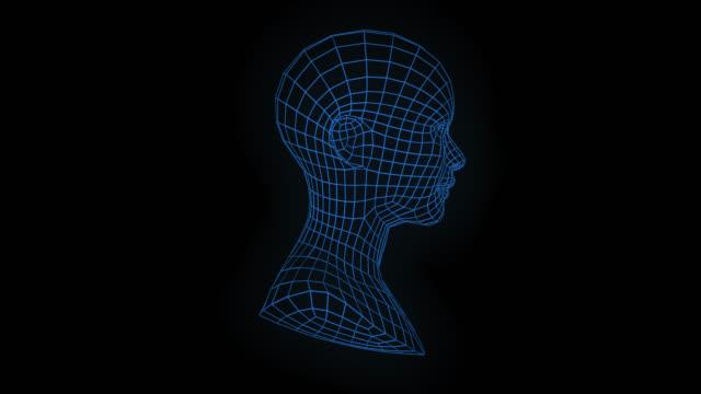 loopable roterande mesh kvinna ansikte - människohuvud bildbanksvideor och videomaterial från bakom kulisserna