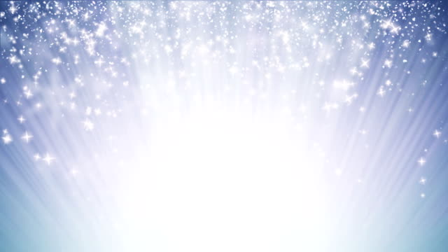 Loopable, seamless loop Christmas background with small snowflakes star particles. Light ray beam effect, UHD 4k 3840x2160 video
