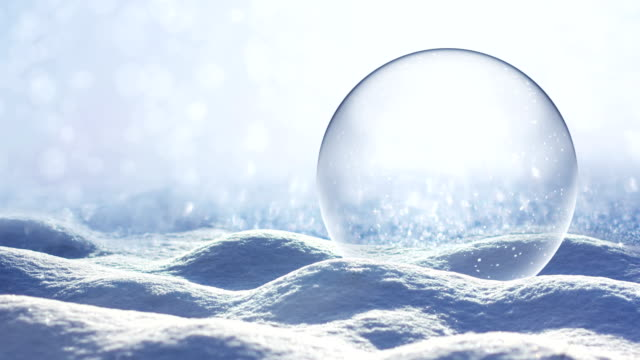 loopable snow landscape - snow globe - snowflake background stock videos & royalty-free footage