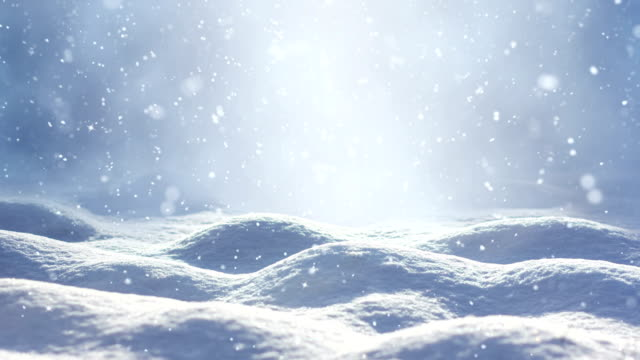 loopable snow landscape - snowflake background stock videos & royalty-free footage