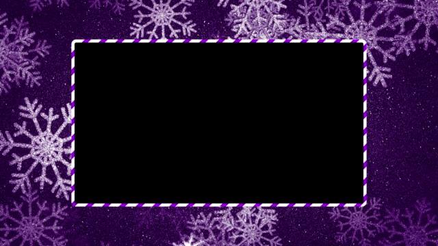 loop-able snöflingor ram med travel matte - christmas frame bildbanksvideor och videomaterial från bakom kulisserna