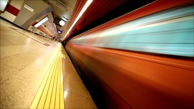 Loopable Subway in motion HD video