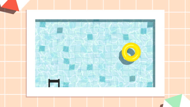 Loopable swimming pool animation