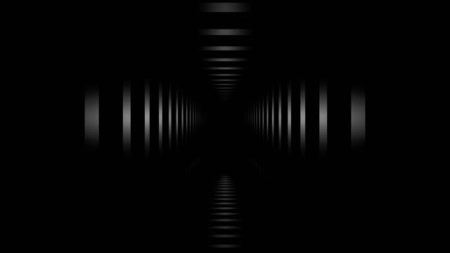 Loopable tunnel hall. Abstract Geometry.