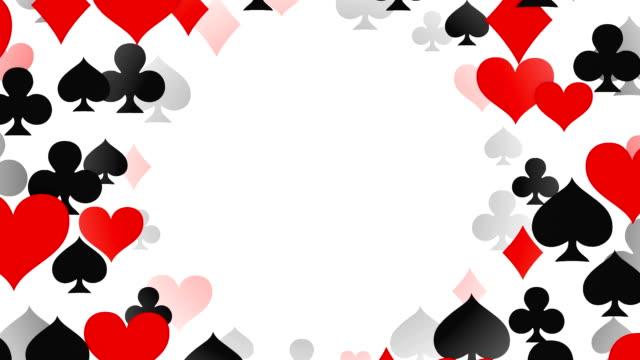 Loopable Tunnel of Aces, Diamonds, Hearts, Spades, Poker, Blackjack, Gambling video