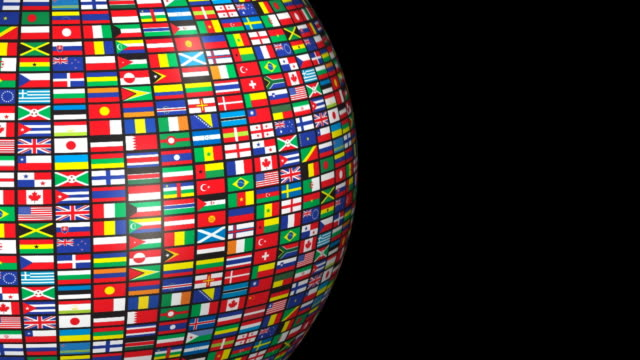Loopable, World Flags (Alpha channel) video