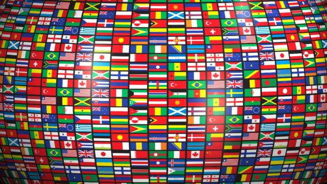 loopable bandiere del mondo, - bandiera nazionale video stock e b–roll