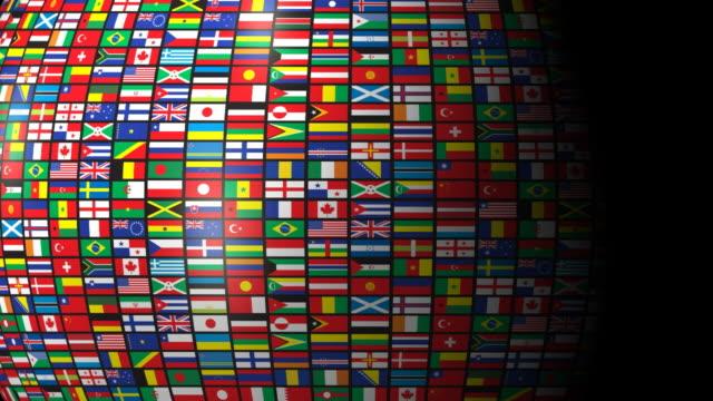 ループ、世界の旗 - 豊富点の映像素材/bロール