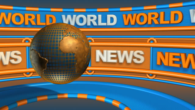 Loopable, World News Header - Global Communications video
