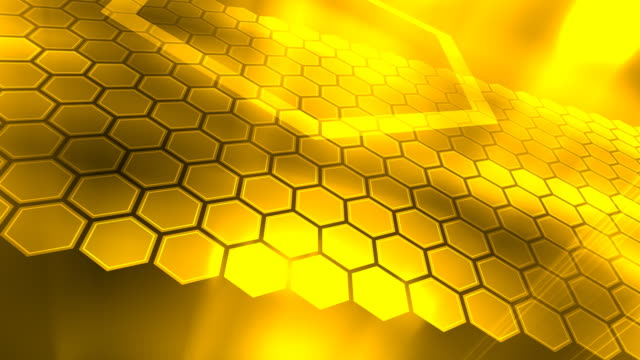 Loopable, Yellow Abstraction, Honeycombs video