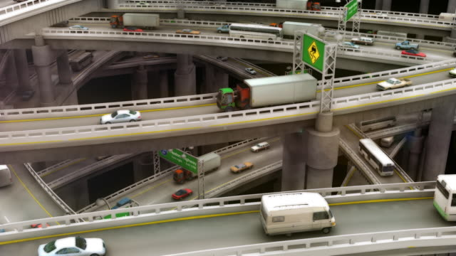 Loopable, Zoom in and Out of Crazy Highway Traffic video