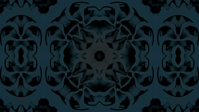 Looped Abstract neon ornate decorative background. 3D Kaleidoscope or mandala. Looped Abstract neon ornate decorative background. 3D Kaleidoscope or mandala. floral pattern stock videos & royalty-free footage