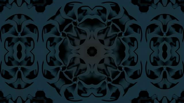 loopas abstrakt neon utsmyckade dekorativa bakgrund. 3d kaleidoscope eller mandala. - blommönster bildbanksvideor och videomaterial från bakom kulisserna