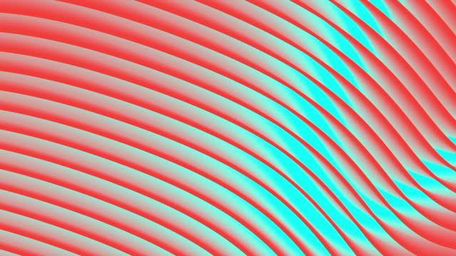 vídeos y material grabado en eventos de stock de animación en bucle. fondo ondulado abstracto y colorido en colores rojo y azul brillante. - curva forma