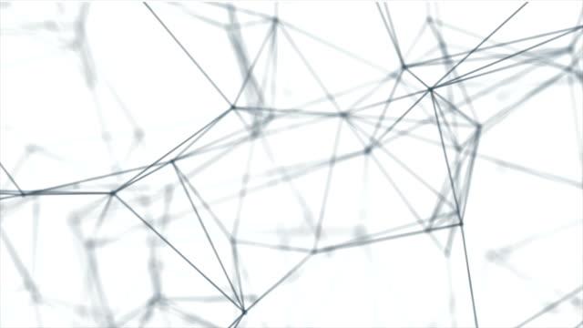 loopas futuristiska teknik molekylär abstrakt plexus bakgrund - nod bildbanksvideor och videomaterial från bakom kulisserna
