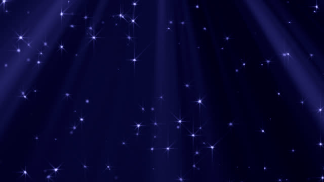 Looped Lights And Stars Background (Blue) video