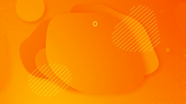Looped liquid hot yellow color autumn animation. Popular modern orange abstract background. Fluid gradient futuristic shapes motion design. Summer sale final poster, presentation. White text frame logo. Halloween yellow stock videos & royalty-free footage