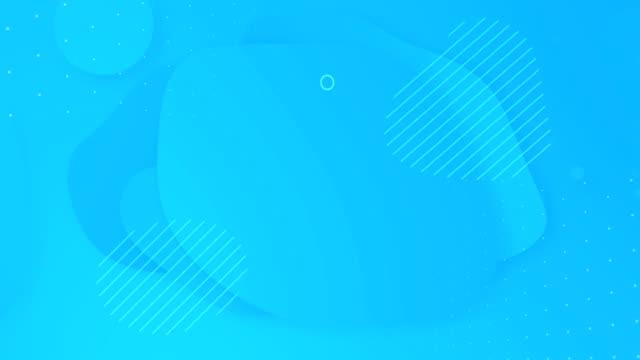 vídeos de stock e filmes b-roll de looped liquid light blue turquoise color animation. popular modern  abstract aquamarine background. - padrão repetido