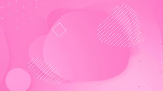 ループパステルリキッドピンクカラーアニメーション。かわいい柔らかい現代抽象的な心の背景。 - ピンク色点の映像素材/bロール