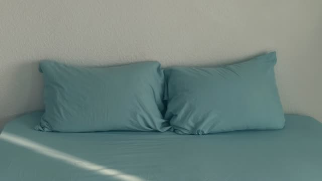 looped stop motion animation of dancing pillows