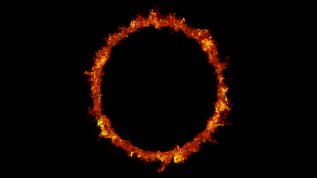Looped Sun ring with solar flares, 3D animation