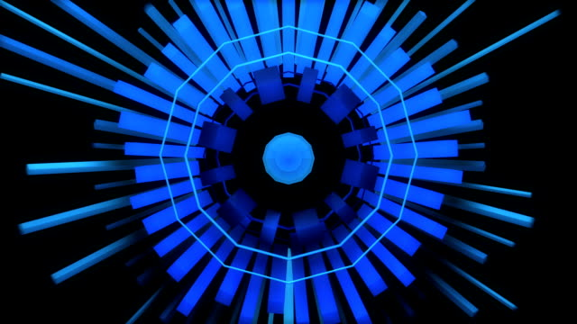 キューブ メートルのループの抽象的なオーディオイコライザー リング - 尖っている点の映像素材/bロール