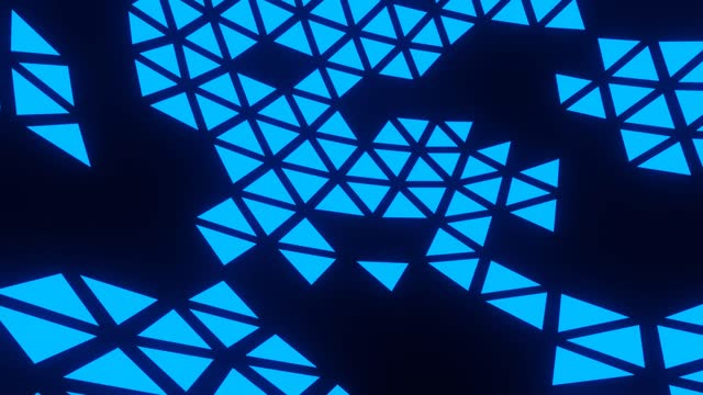 Looping Abstract Blue Triangle Background