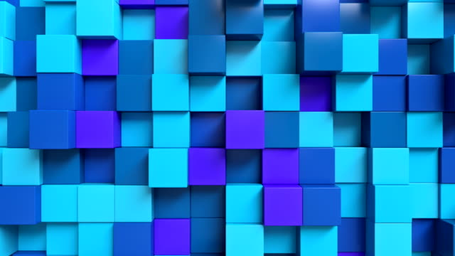 Looping Abstract cubes Blue video